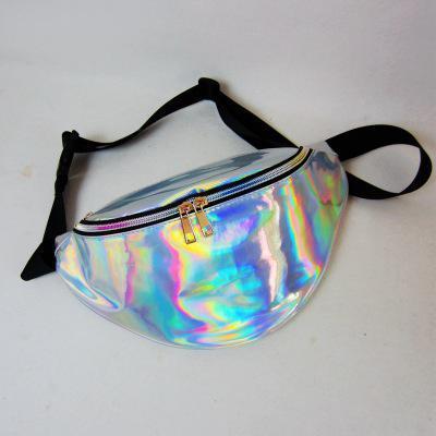 فاني حزمة الليزر شفافة حقيبة الخصر الهولوغرام حقائب حزام حقيبة الخصر حزمة بولسا الأنثوية حقيبة الورك حزام الحقيبة