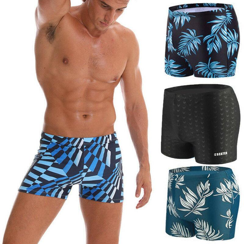 Slip Boxer Hommes Natation Natation Bermudas Swimwear Sous-vêtements Pantalons Hot