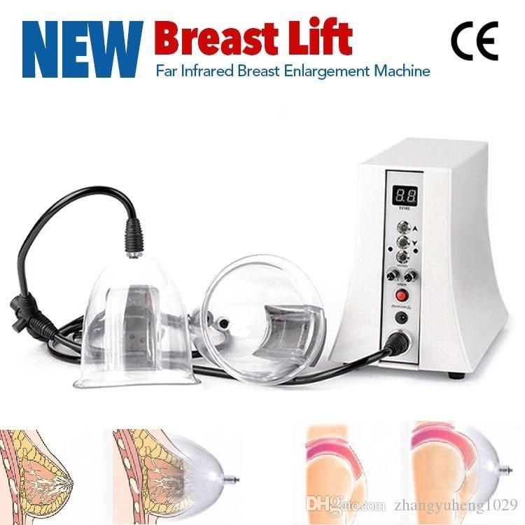 تكبير الثدي آلة مدلك الثدي مع حجم مختلف مضخة فراغ التمثال تعزيز معدات التجميل