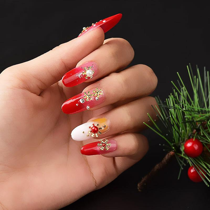 3 Mixed Sizes Christmas Gold Nail Alloy Snowflake Nail Sticker Glitter Slice Fake Nails Nail Design Ideas From Ccr520sr 36 81 Dhgate Com