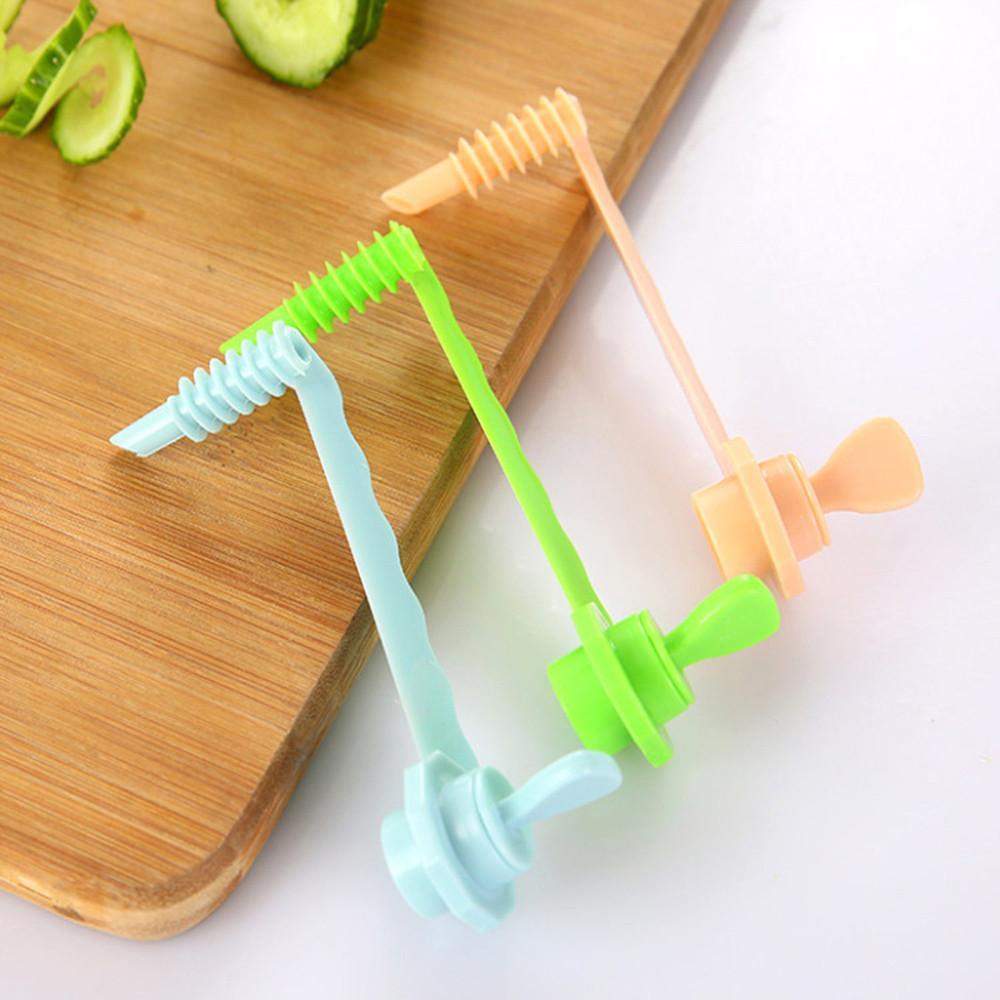 Obst Gemüse Möhre Gurke Spiral Slicer Tranchiermesser Küchenschneidwerkzeug Gemüse-Rollen Blumen-Slicer Shred Geräte DE5