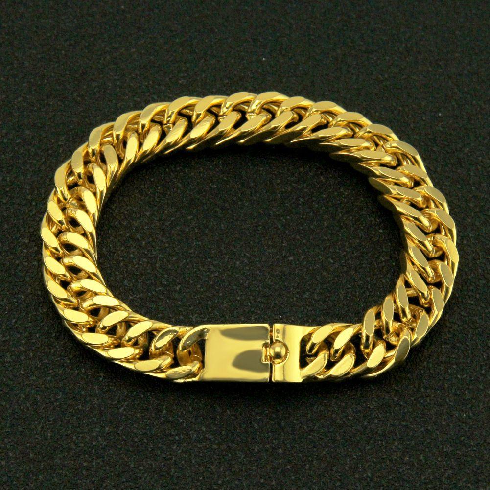 Hip Hop, Rap, pulsera cubana brillante hombre dominante de, oro Hiphop, de personalidad fría, pulsera y pulsera