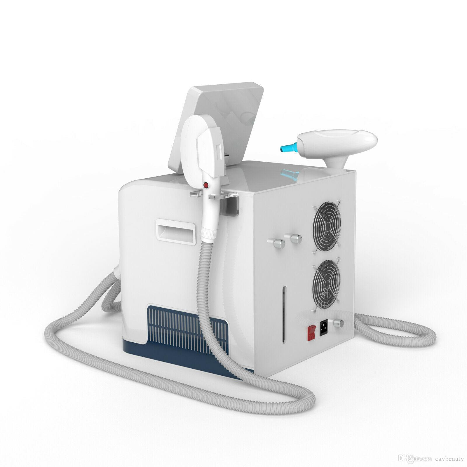 SHR IPL laser+ND YAG Laser IPL Shr Removal Hair Pigment Acne Therapy Equipment Laser Machine CE approval