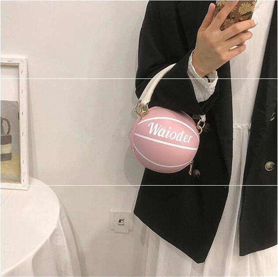 Elegante Frauen Kontrast-Farben-Einkaufstasche 2020 Art und Weise neue Qualitäts-Leder-Frauen-Basketball-Handtasche Spielraum-Schulter Messenger Bag # 51292