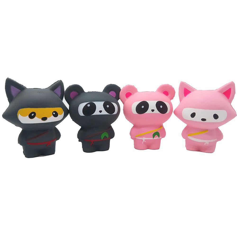 2019 descompresión juguete Squishies Fox oso forma lento aumento perfumado exprimir aliviar el estrés juguete squishy smooshy blandos juguetes para niños