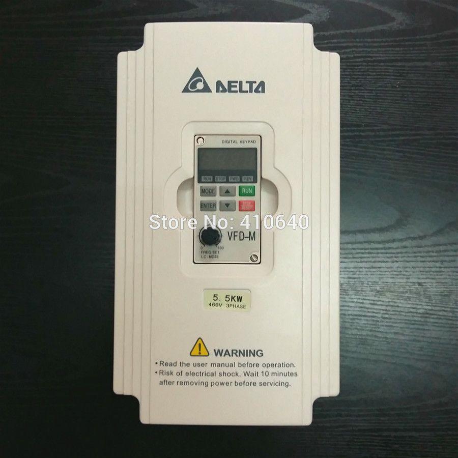 Delta Inverter 5.5 KW VFD055M43A 3 fasi 380V a 460 V nominale 13A 100% nuovo 5500 W VFD Serie Inverter a velocità variabile Motore a corrente alternata