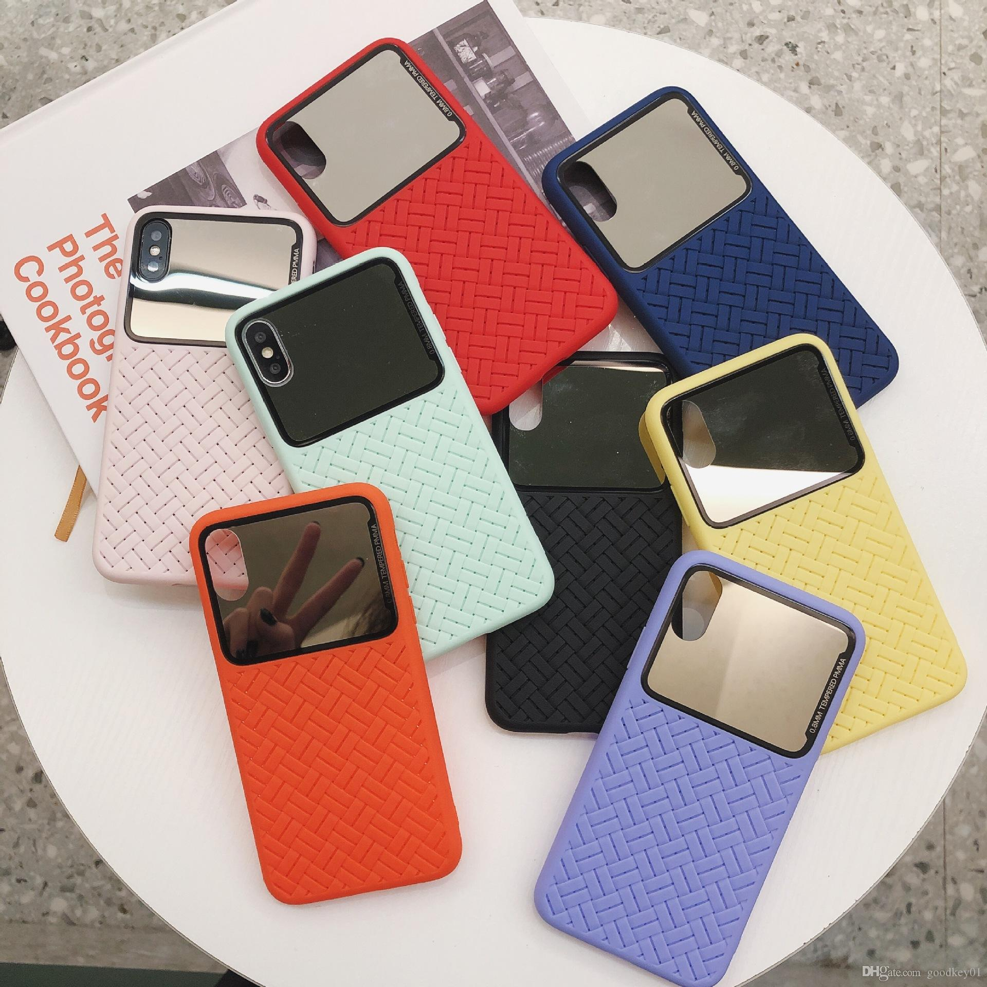 For iPhone X Xr Xsmax Xs 7 Puls 6 6S 7 8Puls Phone Case Cute Retro Pattern Cases Mirror Soft Silicone Cover