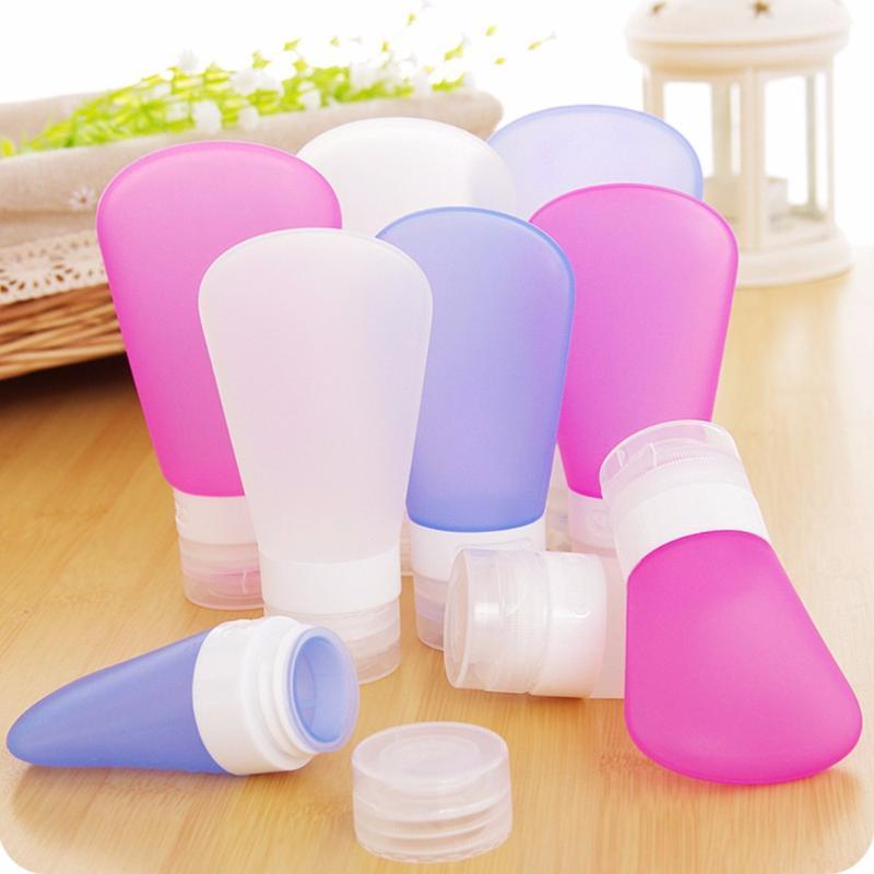 1PCS Portable Soap Dispenser Travel Refillable Makeup Bottle Silicone Skin Care Lotion Shampoo Gel Squeeze Bottle Tube Dispenser