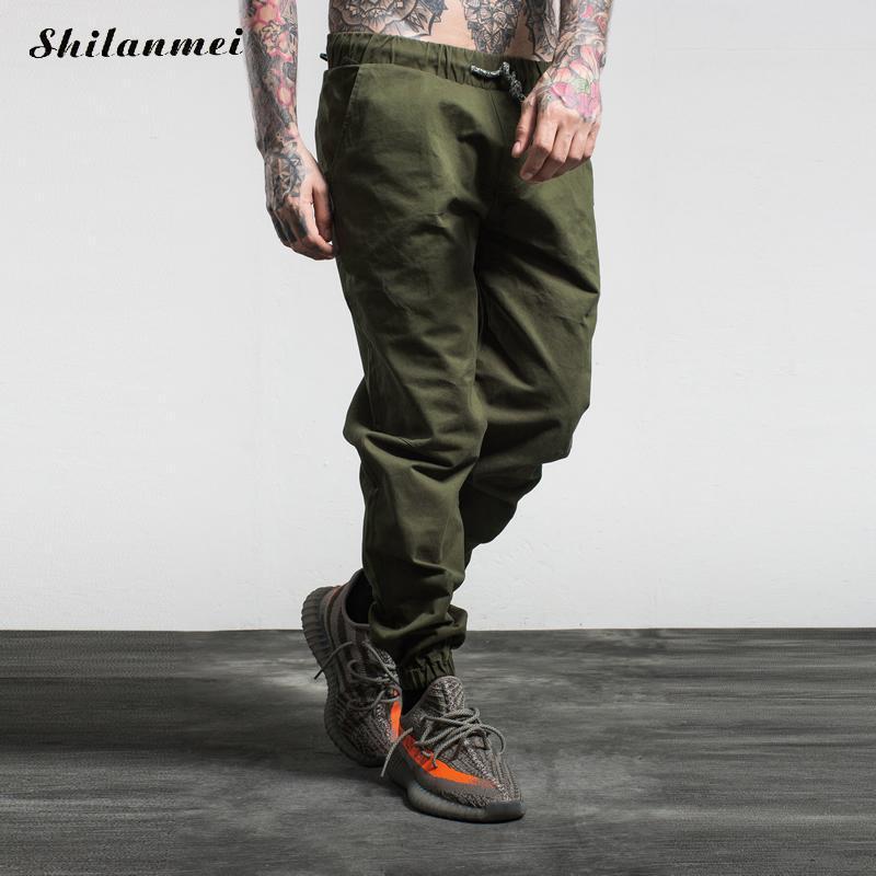 Shilanmei новый мужские бегунов Jogger брюки уличный брюки мужчины штаны хип-хоп бегунов уличная камуфляж брюки-карго