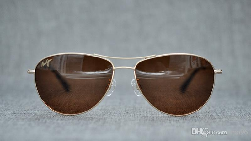 92b0991cd1 New Maui Jim SEA HOUSE Polarized Titanium Sunglasses H772-16 Gold/Bronze  Aviator 772 ...