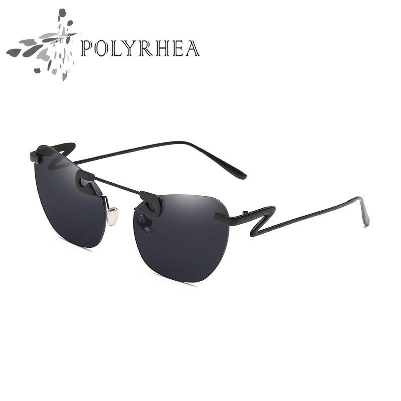 Lujo- Sun Designer Frame EXQUISITE GRABLOS FRAMELESS DRIVE TOP Anti-UV Gafas de sol Protección de marca de calidad Gafas de sol Hecho a mano Cussx