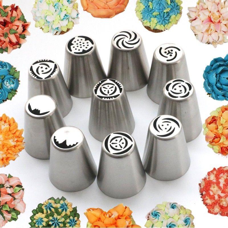 Rus Lale Buzlanma boru Nozullar Paslanmaz Çelik Çiçek Krem Pasta İpuçları Nozullar Çanta Cupcake Kek Dekorasyon Araçları 1 adet