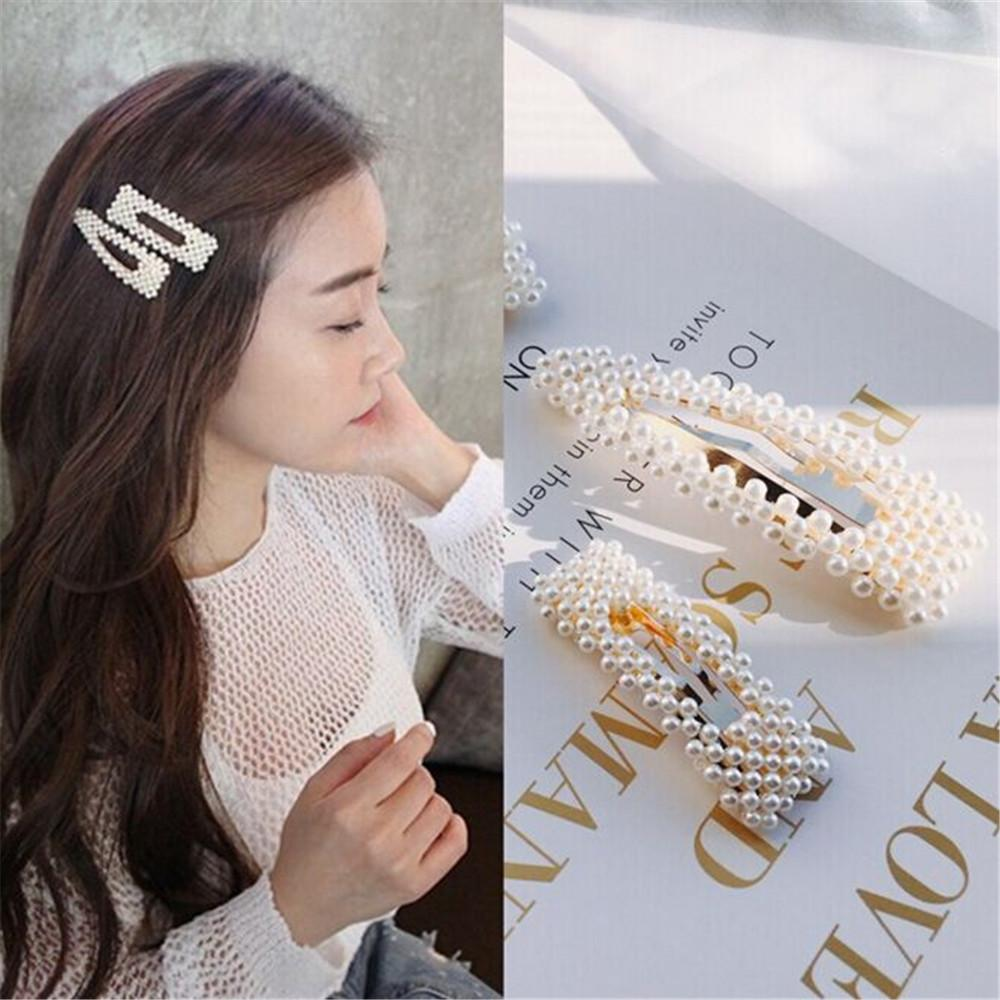 2019 New Fashion Full Pearl Hairgrip Women Girls Hair Clips Pin Accessories For Girls Hair Barrette Hairclips Accessories