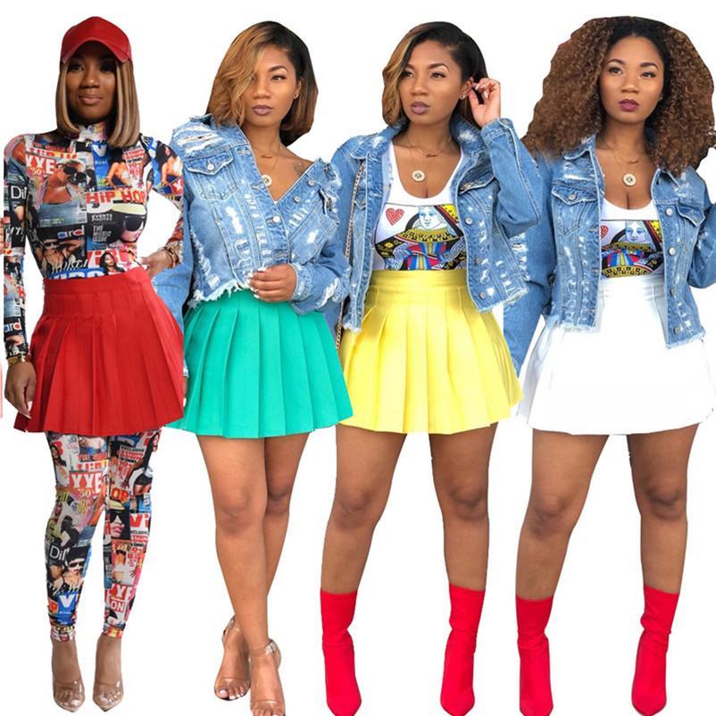 Frauen Faltenröcke sexy feste mini große Schaukel Kleid Park Strandkleid Minirock Sommer Art und Weise Frauen-Rock-Kleid klw3377