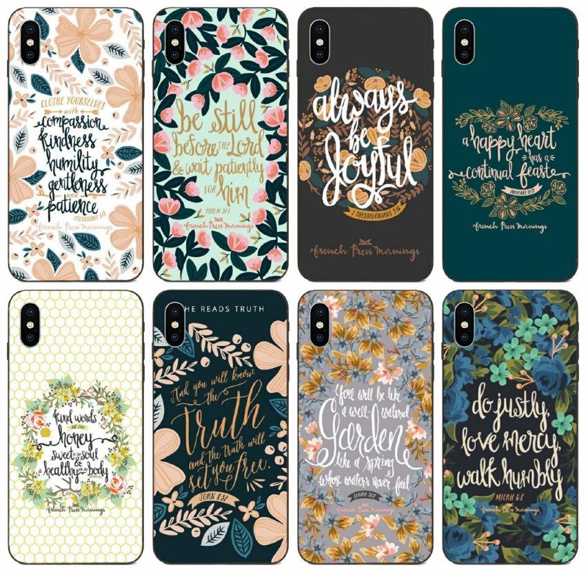 [TongTrade] Sabahları İncil Ayetleri Koruma Kılıf iPhone 11 Pro X XS Max XR 8 7'ler 7 SE Galaxy A80 A8S A9 Huawei Nova 5i Pro LG G3 Vaka 8S
