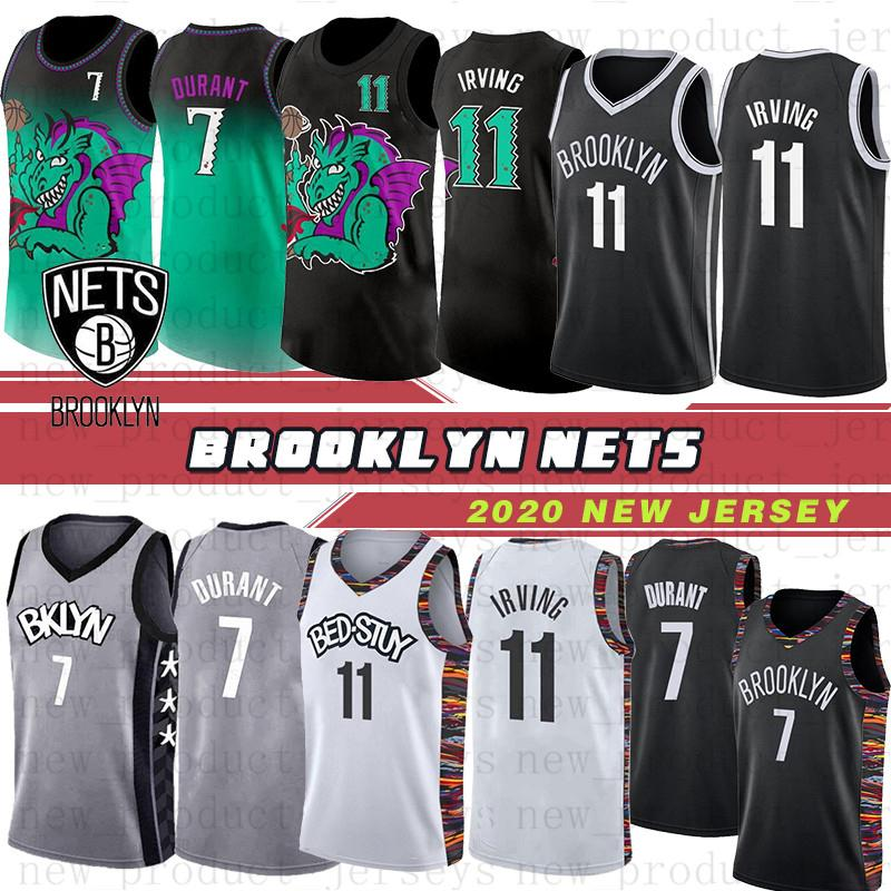 Brooklyn Nets 7 maillots Kevin Durant 11 maillots Kyrie Irving Jersey déclaration White City Jersey 72 Biggie Men the Basketball Jerseys New