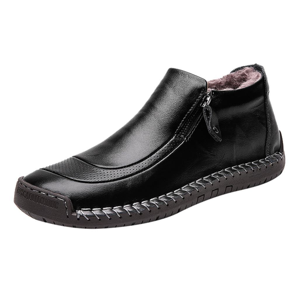 Sıcak Satış- Erkek Botları yüksek üstleri erkek ayakkabı yetişkin erkek x27s ayakkabı Açık Çalışma Rahat Büyük Boy Kadife ayak bileği çizmeler Jly1 Ekleyin