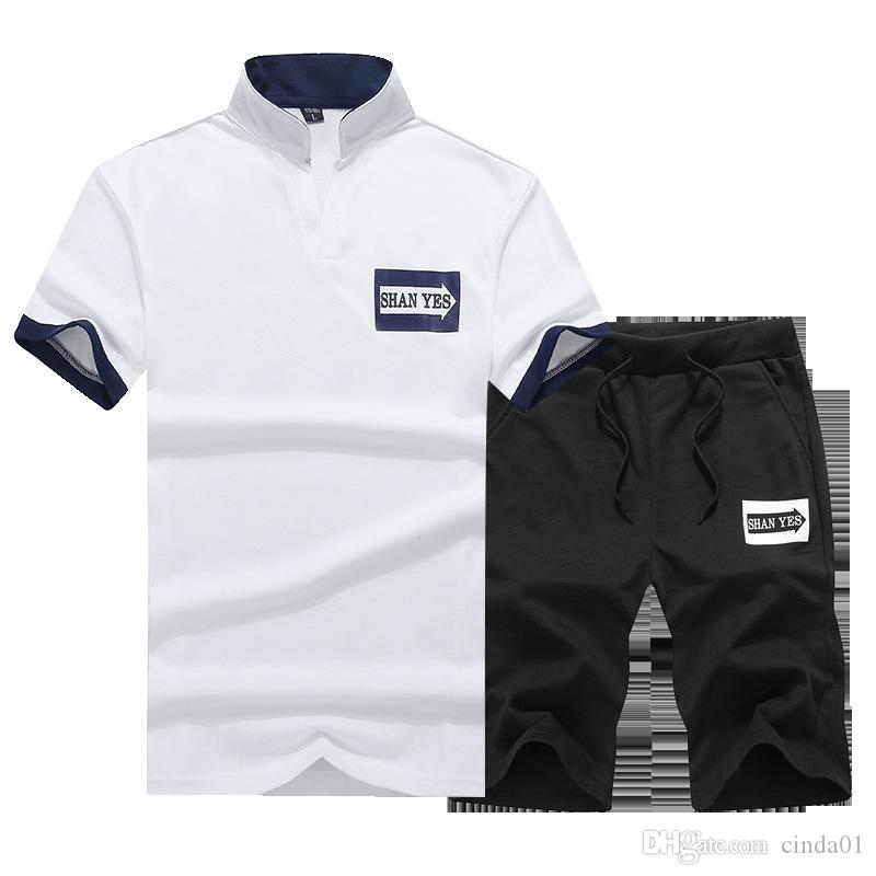mens designer tracksuits Loose Tracksuit Short Sleeve T-shirt Shorts Summer Suit Short Pants Fashion High Quality