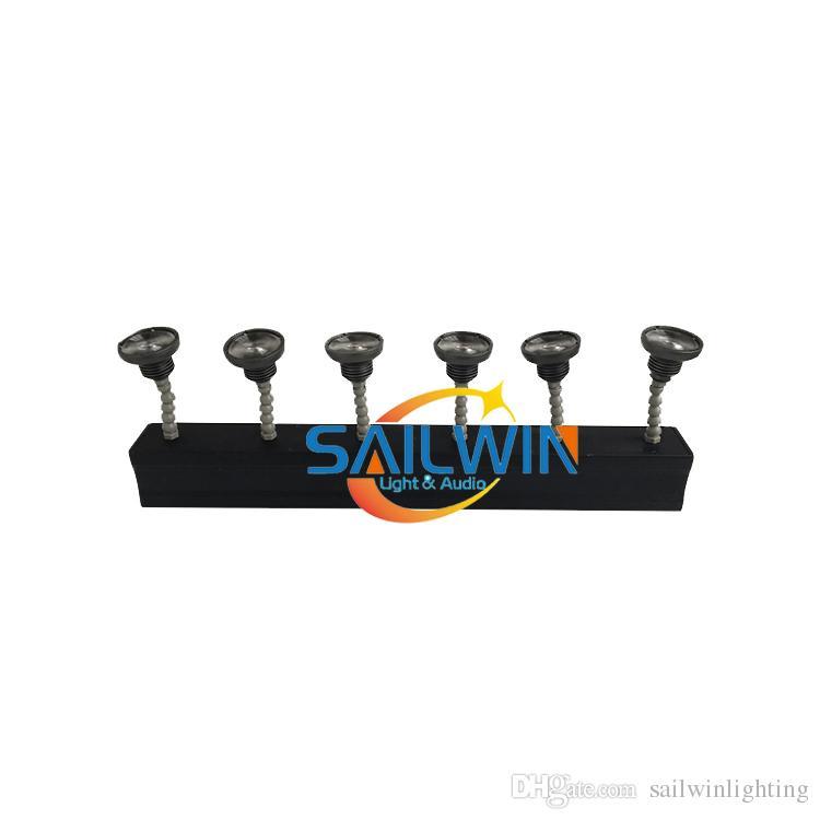 Pil Varış 6in1 ile 6 Uzaktan Işık RGBWAU Sıcak 60 W Bullet Pinspot Başkanı Satış Yeni Powered Kablosuz Kontrol Düğün Parti için LED SRNMF