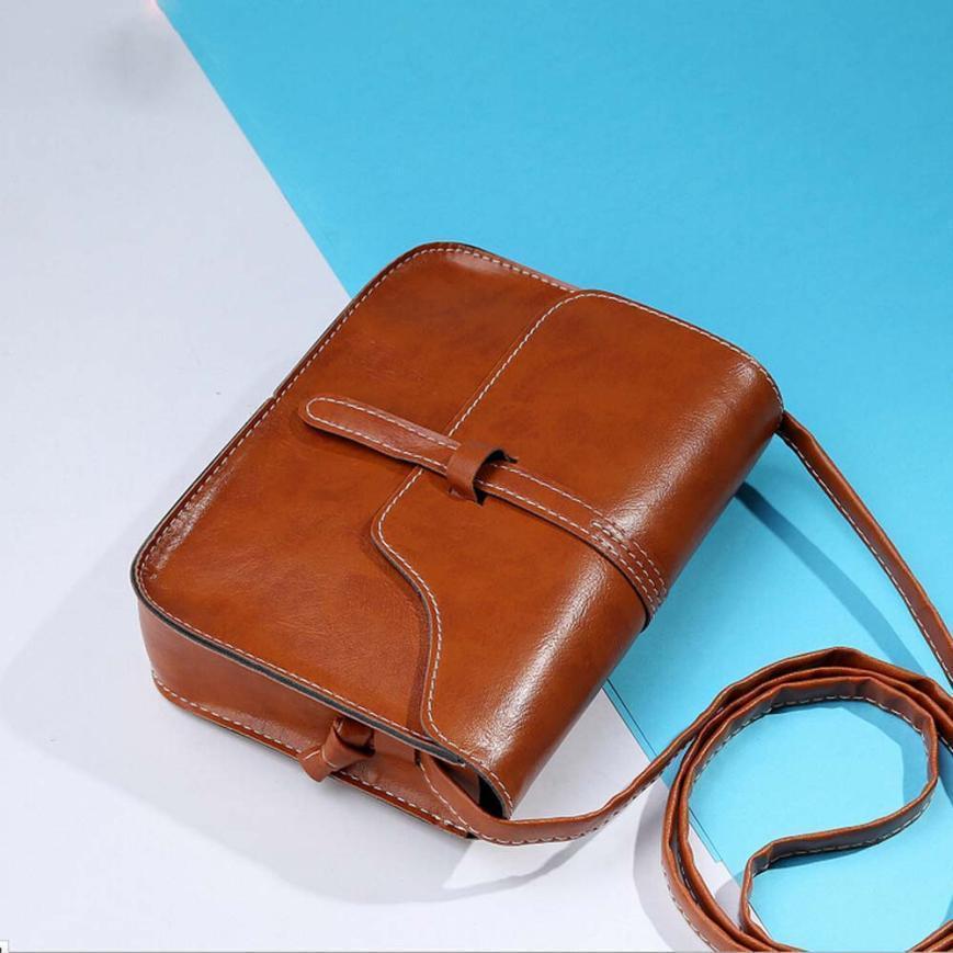 Vintage Çanta Suni Deri Çapraz Vücut Lüks Eğimli Omuz Messenger Çanta Moda Mümkün Mini Çanta Kadın
