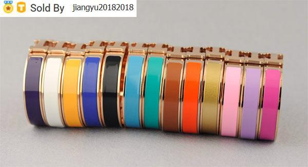 Christmas Gift High Quality Metal Buckle bracelet Metal Clover Cuff Bracelets Rose Gold Jewelry With Box