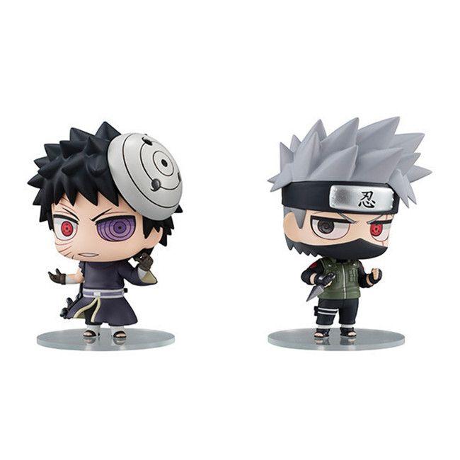 2020 Catoyfirm 8cm Anime Naruto Kakashi Hatake Obito Uchiha Q Ver
