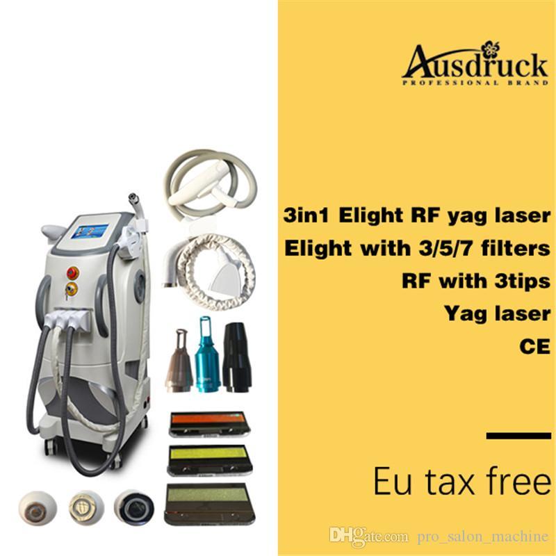 Profesyonel IPL Epilasyon Elight RF Lazer Dövme Temizleme Güzellik Makinesi Yeni
