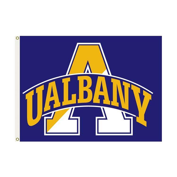 Bandeira Albany NCAA 3x5FT 150x90cm 100D Poliéster Impressão Hanging Bandeira com latão Grommets frete grátis