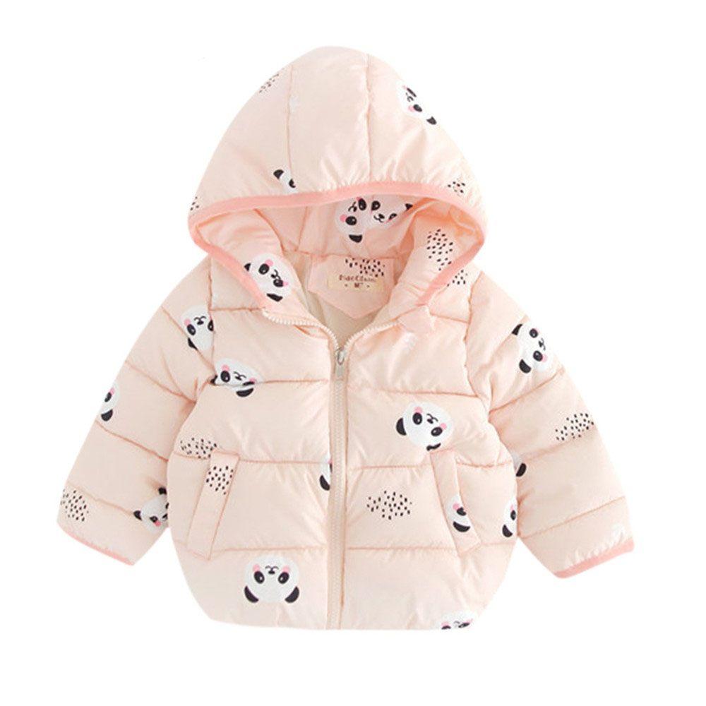 Cartoon Mantel Neugeborenes Baby ultra dünne Daunenjacke mit Kapuze Mantel Tiere Boy Zipper Oberbekleidung Winter Kinder Parka