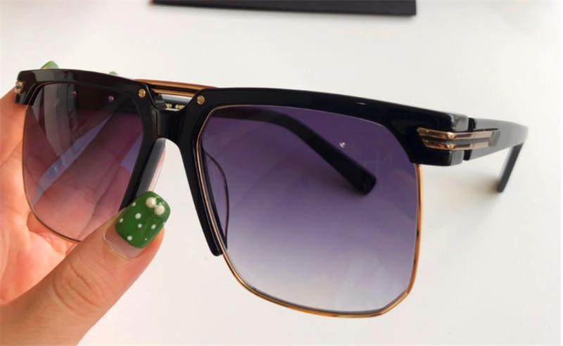 تصميم الأزياء الجديدة نظارات شمس 9072 الرجال شعبية نصف إطار إطار مربع أعلى جودة النمط الشعبي الأشعة فوق البنفسجية 400 رجل في الهواء الطلق النظارات