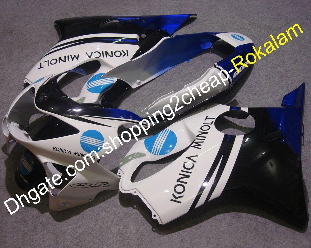 Honda CBR600F4 için 1999 2000 CBR600 F4 99 00 CBR 600 600F 4 Vücut Beyaz Mavi Siyah Perşembe Seti (Enjeksiyon Kalıplama)