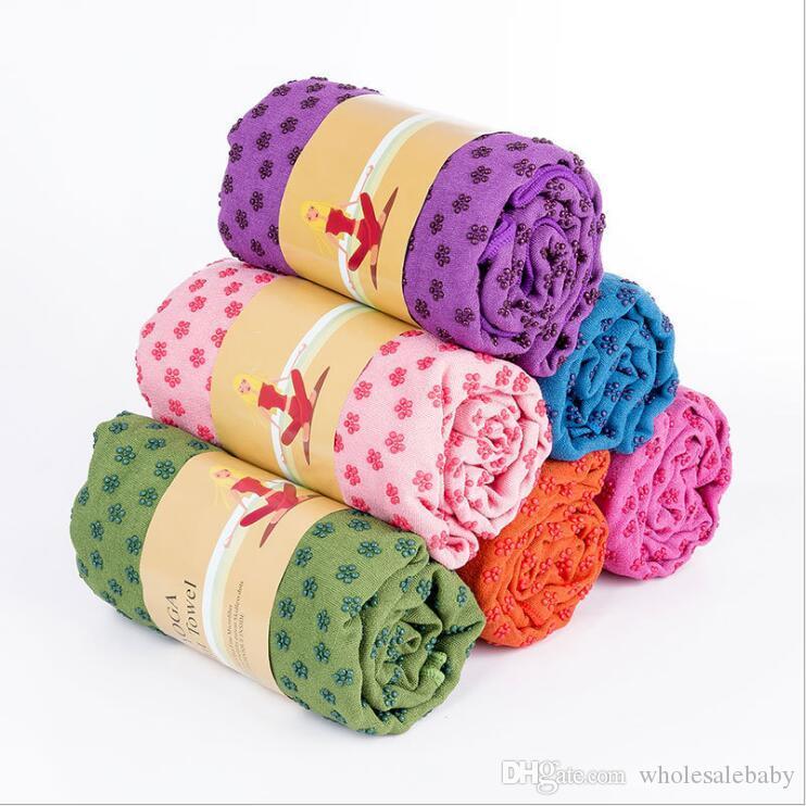 Tapis de yoga serviette Couverture non-dérapante en microfibre canapé rectangulaire Tapis Dots haute humidité Séchage rapide Yoga extérieur Tapis EZYQ754