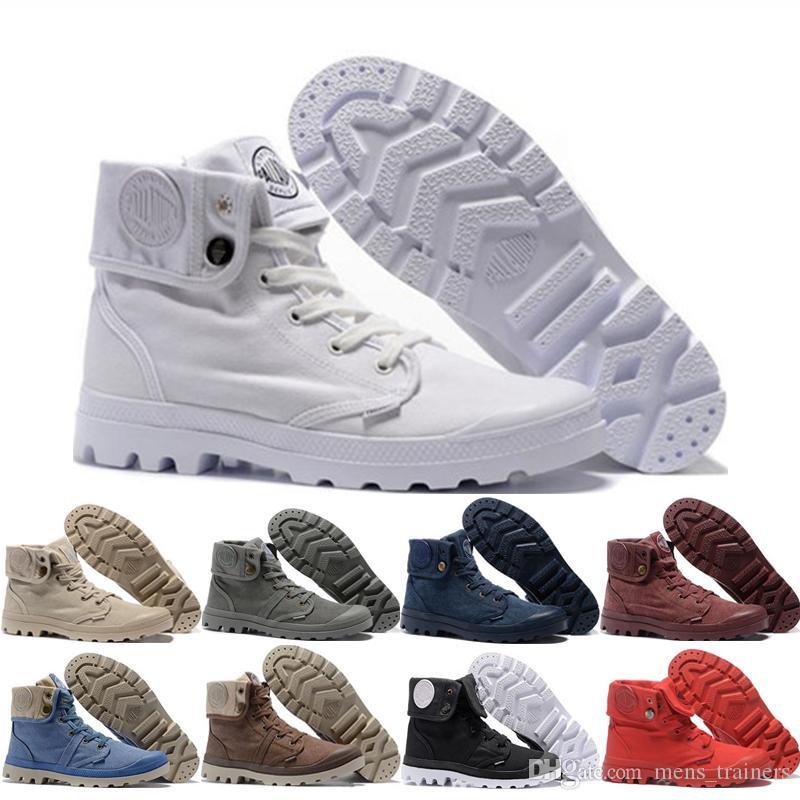 Размер Женщина Мужчины Palladium Pallabrouse Martens Boots Классических Тройной Белая Черный Зимний Загрузочный Army Green голеностопных пинетки 36-45