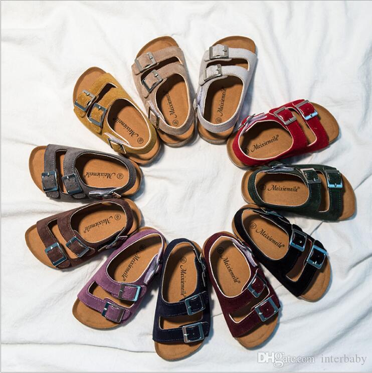 Kids Cork Sandles Slippers Boys Flip-flops Sandals Girls Summer Beach Antiskid Slippers Casual Cool Shoes Fashion Sandalias Footwear A5680