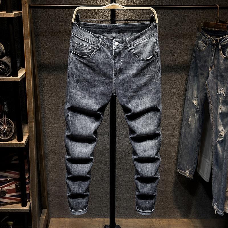 Yupi riss Neun-Punkte-Jeans und Jeans Herren-Modemarke slim fit kleine Füße Sommer dünne Hose koreanischen Stil trendy 2020