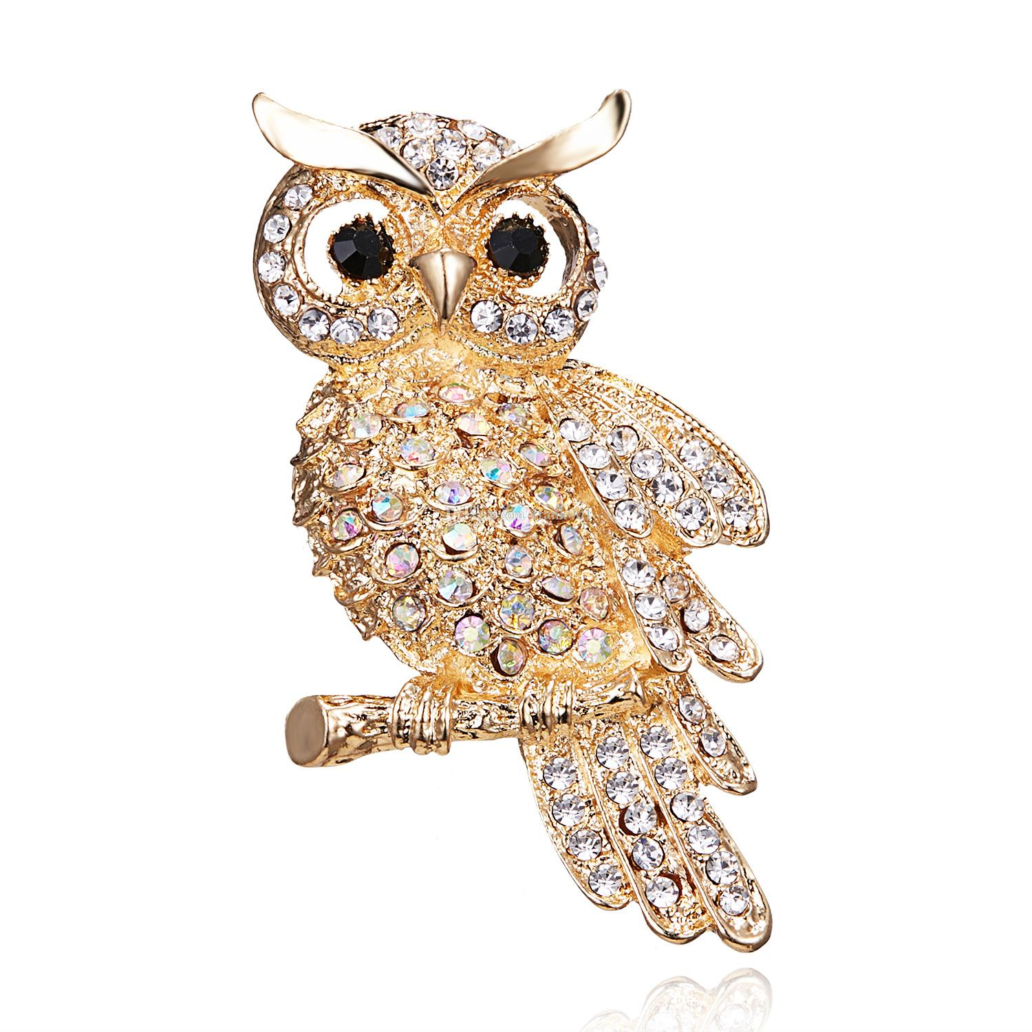 Large Bird Owls Vintage Brooches Antiques Bouquet Owle Pin Up Designer Wedded Broach Scarf Clips Jewellerys Free Shipping