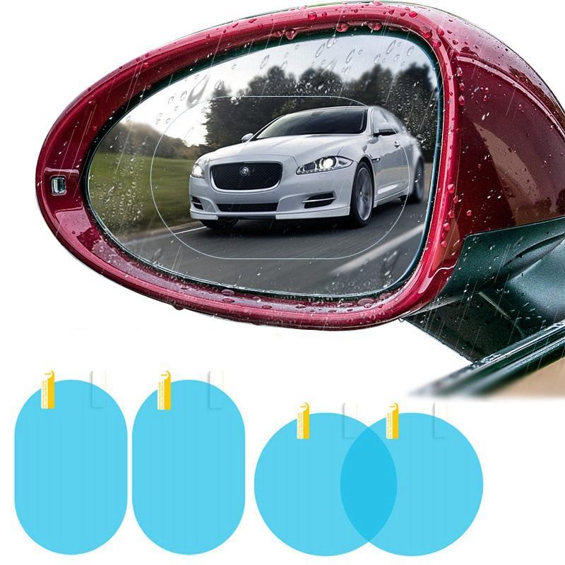 2 adet / takım Araba Dikiz Aynası Yağmur Geçirmez Film Anti Sis Pencere Folyolar Dikiz Aynası Çıkartmalar Ekran Koruyucu HHA282