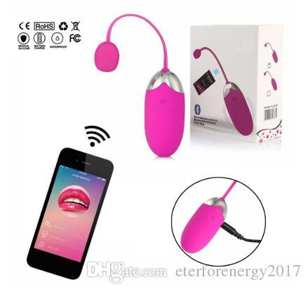 USB Перезарядка Массажер Bluetooth Вибратор Wireless Smartphone App Remote Control Вагинальный вибрационный яйца для взрослых Игрушки Clit яйцо vibrador