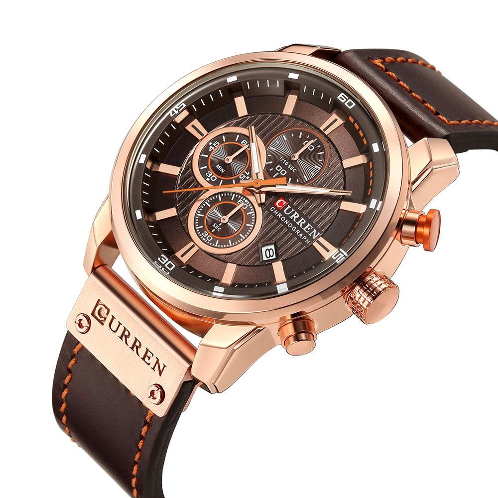 Casual de lujo relojes de los hombres Militar Deportes cronógrafo de pulsera Hombre Fecha reloj de cuarzo Relojes Relojes Mannens Saat