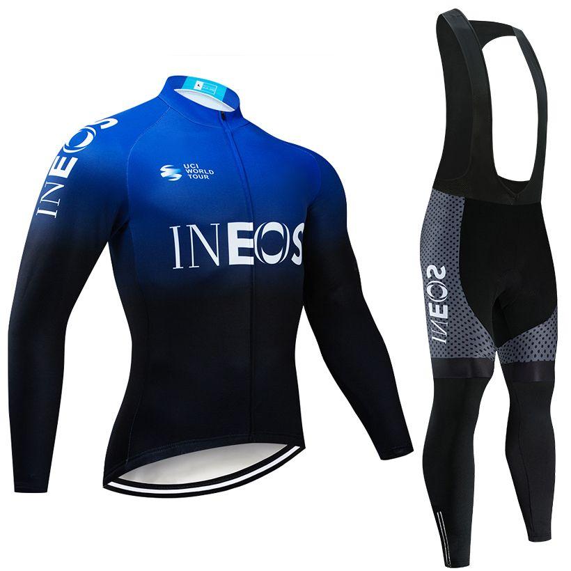 maillot cyclisme d'hiver d'homme 2020 Pro fixé équipe UCI vêtements thermique molleton vélo Kit Salopette Ropa Ciclismo Invierno