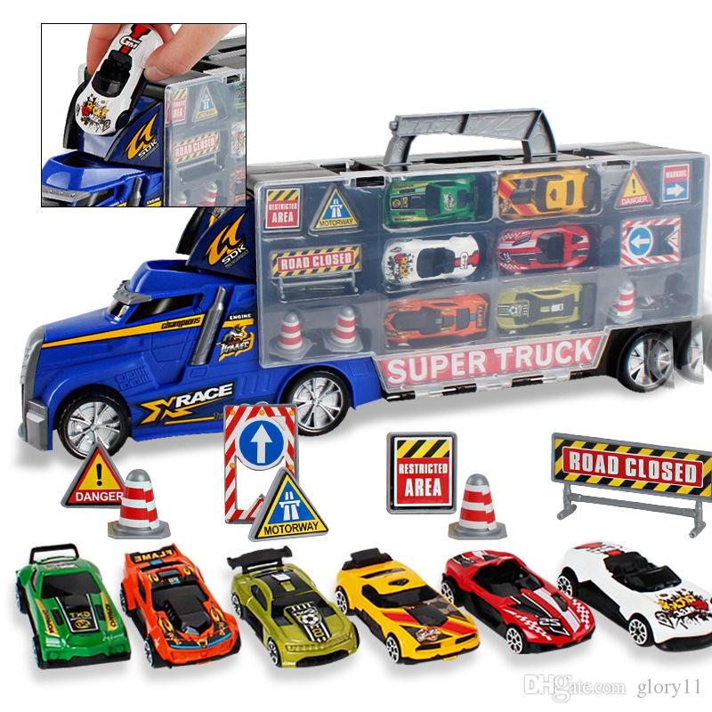 لعبة سيارات، نقل سيارات شاحنة الناقل المركبات التعليمية لعبة مجموعة السيارات للأطفال الصغار، أطفال، بنين والبنات