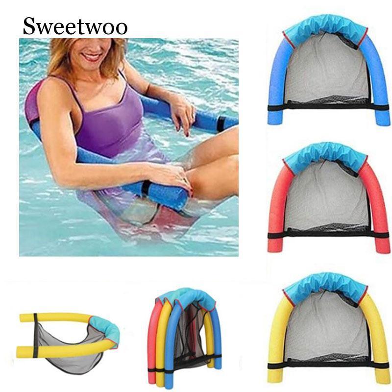 Плавание Floating Председатель Бассейн Детский Взрослый Кровать сиденья воды Flodable кольцо Float Легкий пляж Кольцо Лапша Чистый бассейн аксессуары