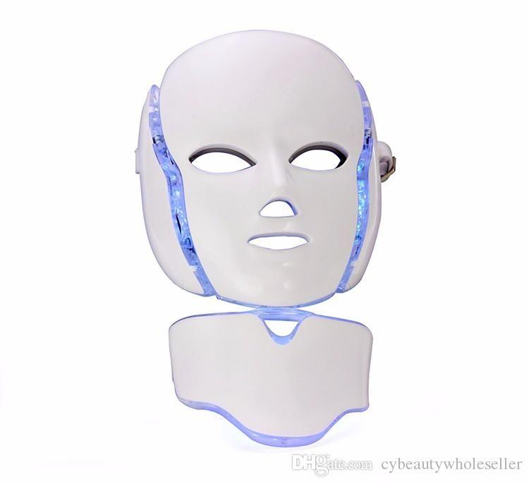 LED маска для лица 7 цвет свет фотон сужать поры омоложение кожи против угревой сыпи терапия для удаления морщин салон красоты
