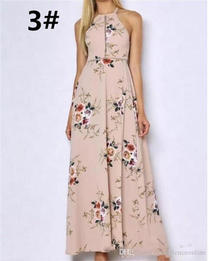 Летние женские праздничные безрукавные платья макси с длинными рукавами Boho