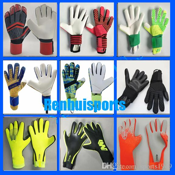 Predator Allround Latex without fingersave Football occupation Goalkeeper Soccer gloves First quality Goalie Professional De Goleiro