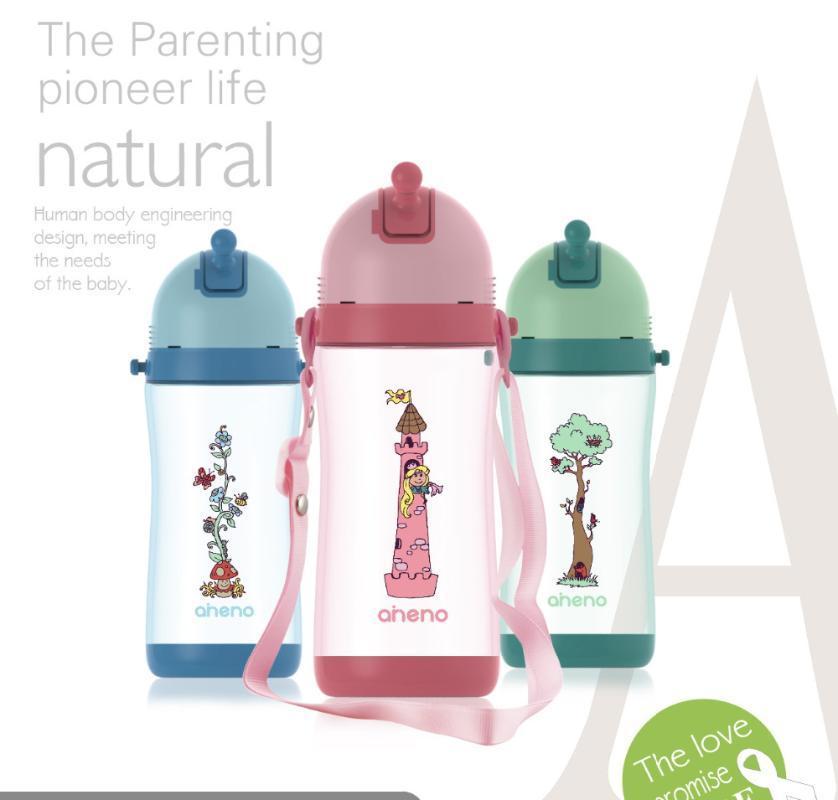 Красочные детские бутылочки (450мл); Сопротивление быть нарушена; не утечка крышка люка пыль (A118)