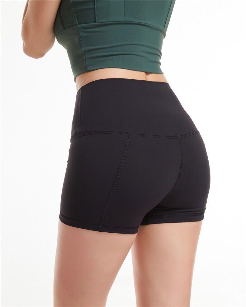 yoga align short New Through high waist Women Yoga Shorts Solid Sports Gym Wear Breeches leggings Elastic Fitness Lady Yoga Short yogaworld