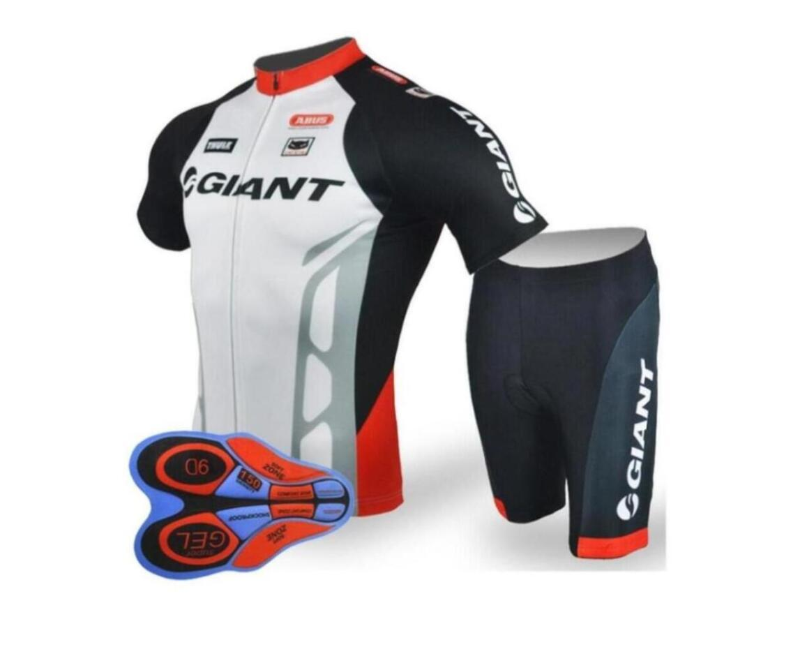 GIANT team Cycling Short Sleeves jersey (bib) shorts sets riding bike Summer breathable wear clothing ropa ciclismo 9D gel pad rrmall