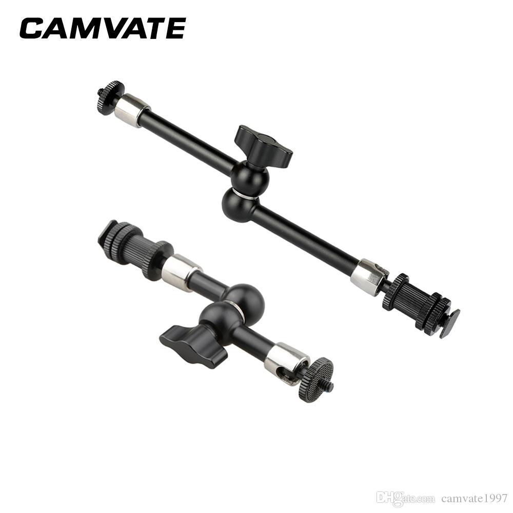 """CAMVATE 7"""" 11"""" Articulating Sihirli Silah Ayakkabı Dağı Siyah Düğme C2122 ile"""