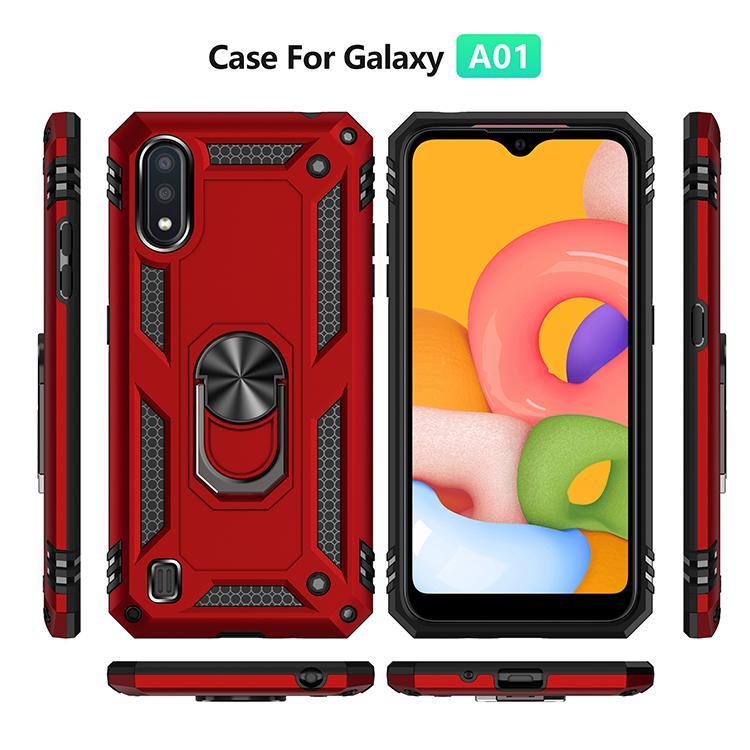 Para la caja de la cubierta del caso de Samsung Galaxy A01 Fundas de goma armadura Shell protector de teléfono para Samsung A01 cubierta para la galaxia A01